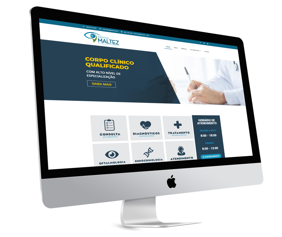 Site de clínica oftalmologica