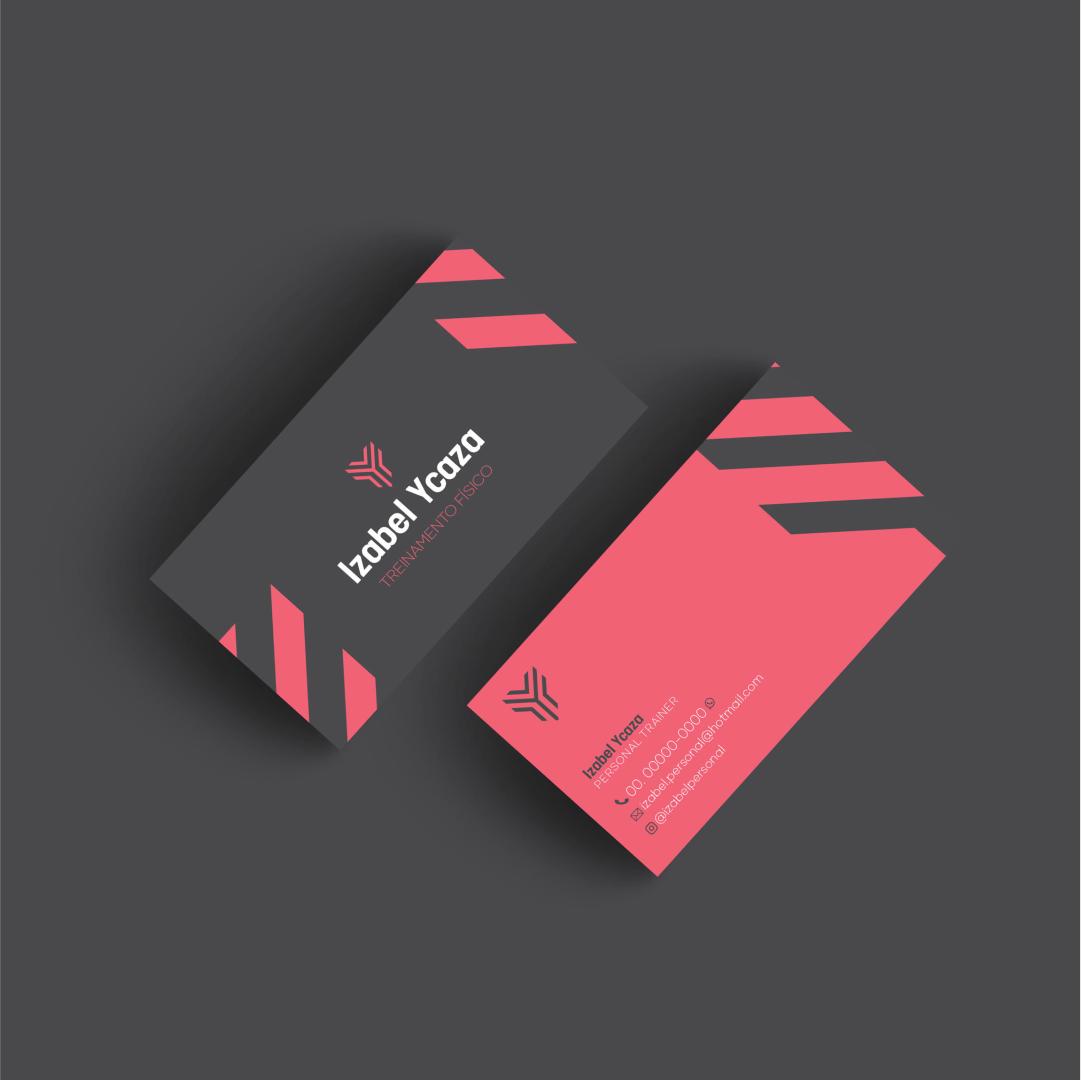 Cartão de visita personal trainer