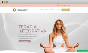 criação de site para a terapeuta Carmem Mendes