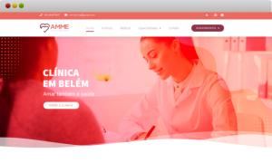 criação de site para clínica médica amme