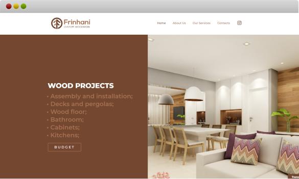 criação de site para a empresa frinhani projetos em madeira