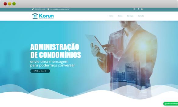 criação de site para administração de condomínios grupo kórun