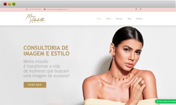 criação de site mari abdalla consultoria de moda