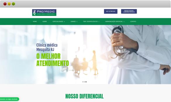 criação de site clinica médica promedic